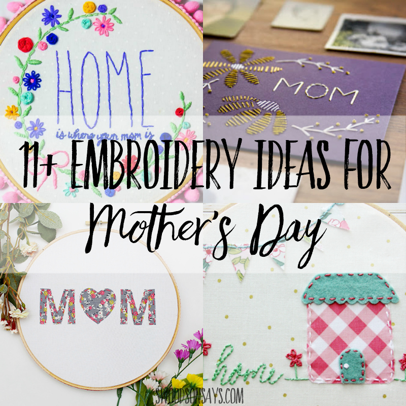 Mother's Day embroidery patterns to stitch for mom
