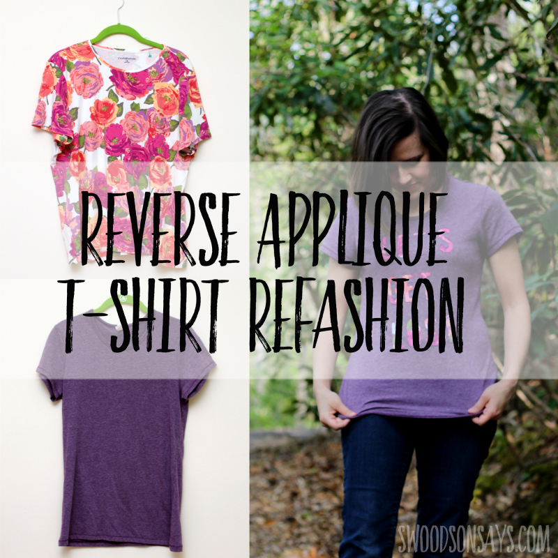 Tutorial: Reverse applique message tee