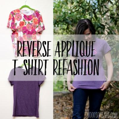 Reverse Applique T-Shirt Refashion