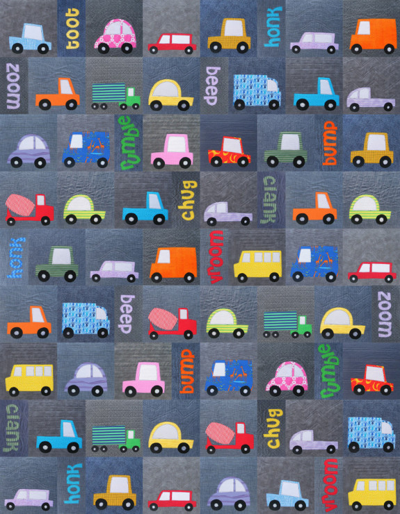 Truck and car quilt pattern