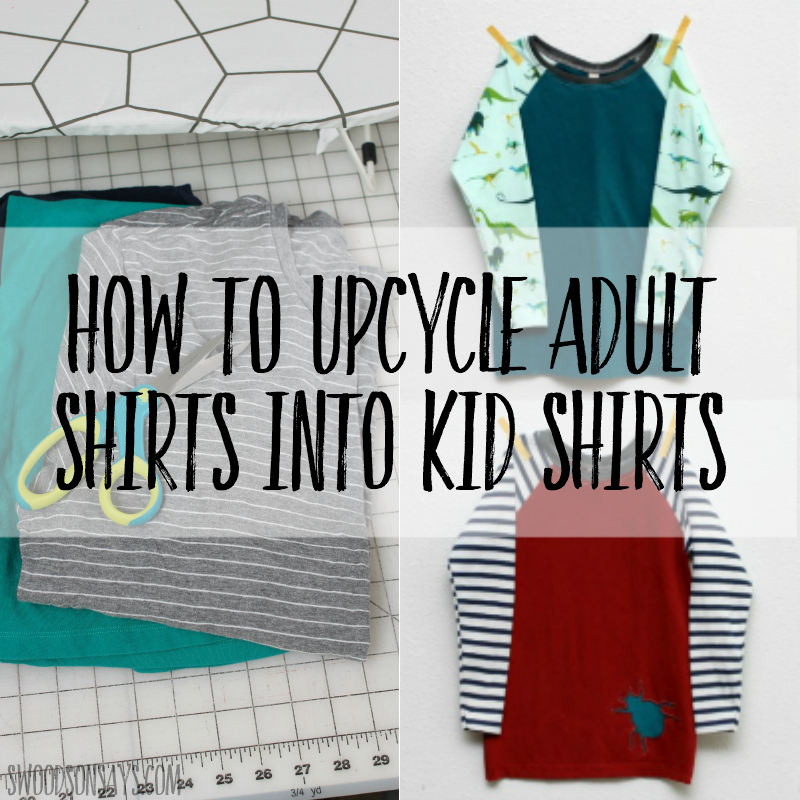 How to upcycle adult shirts into kid shirts