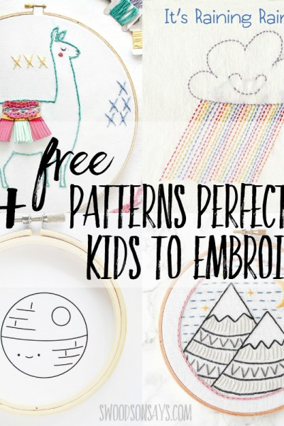 simple patterns for kids to embroider