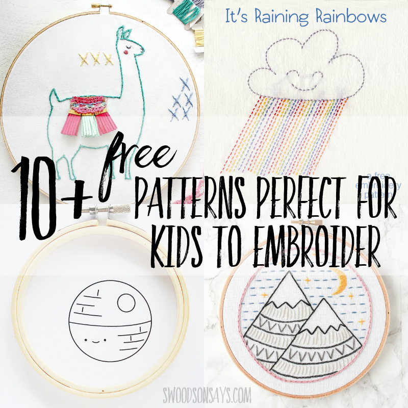 Simple embroidery patterns for kids