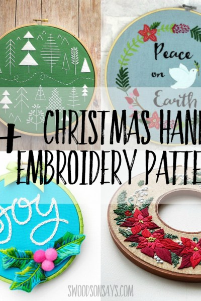 Christmas hand embroidery patterns