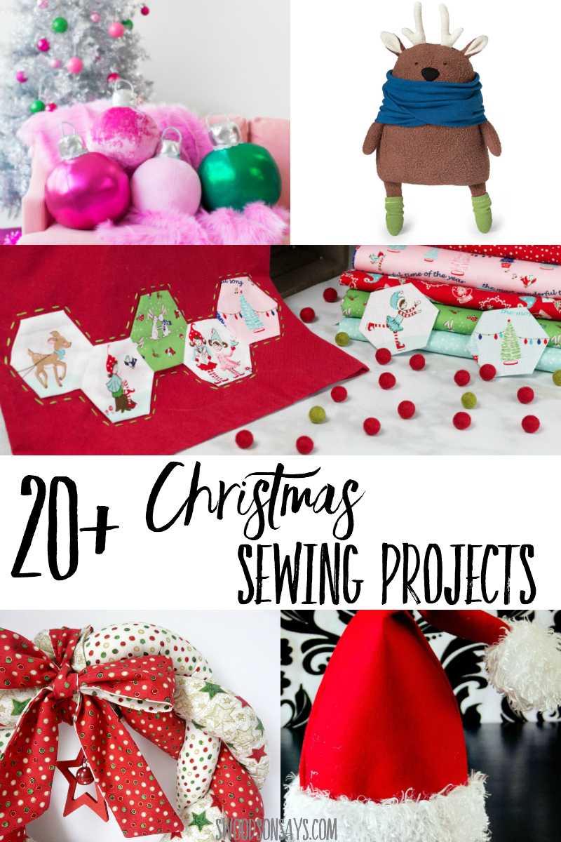 The cutest Christmas sewing projects to stitch this holiday season! Christmas decor, stuffed animals, tree decorations, and gift ideas to sew. There are so many Christmas sewing patterns out there; read this list and start sewing! #sewing #christmas