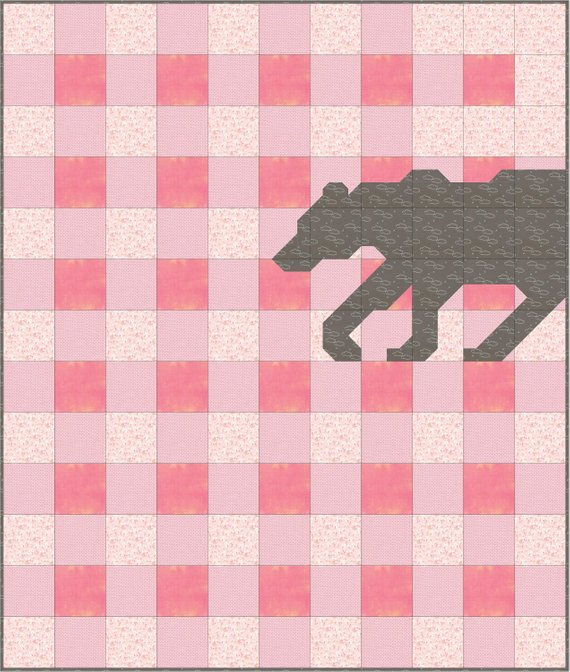 gingham bear quilt pattern