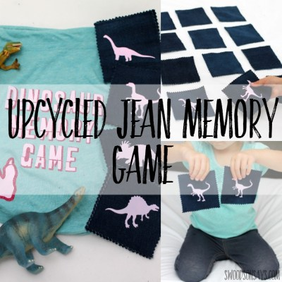 Fabric scrap matching game – with Cricut Iron-On