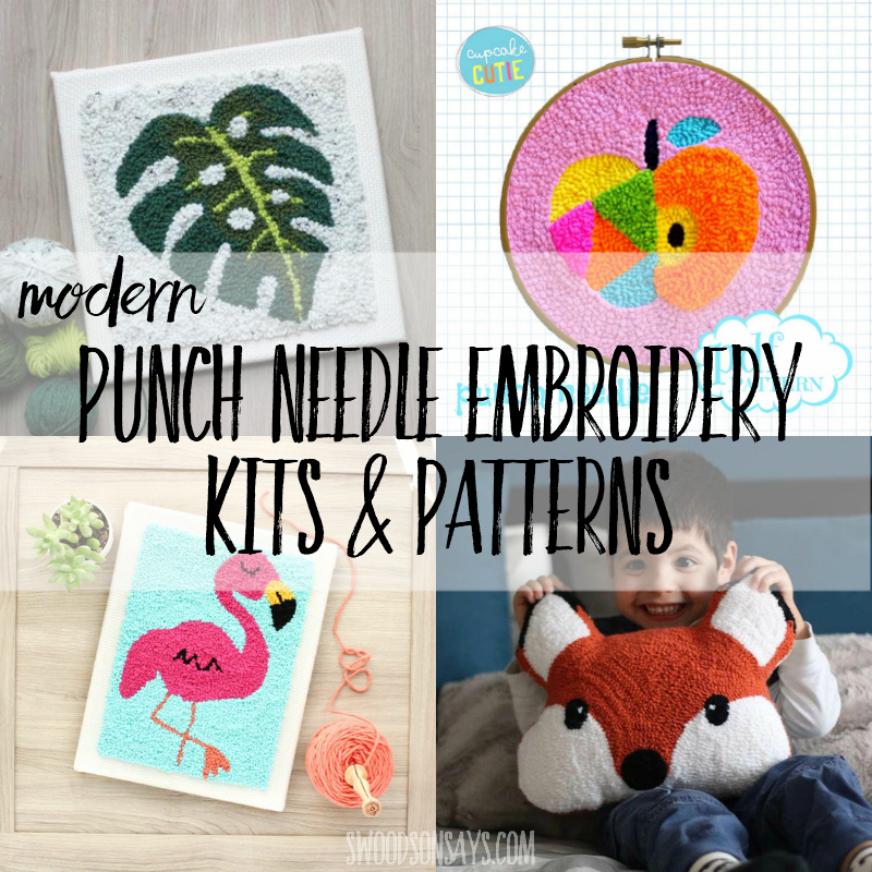 Modern punch needle kits & patterns