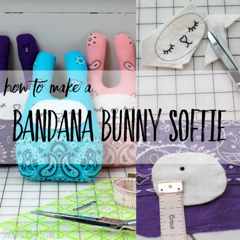 Sewing tutorial: Bandana bunny softie