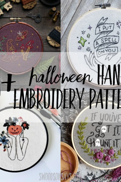 20+ Halloween hand embroidery designs