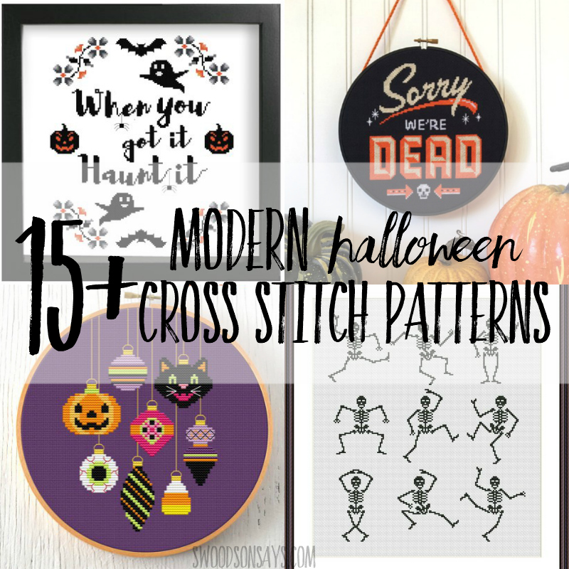 15+ modern halloween cross stitch patterns