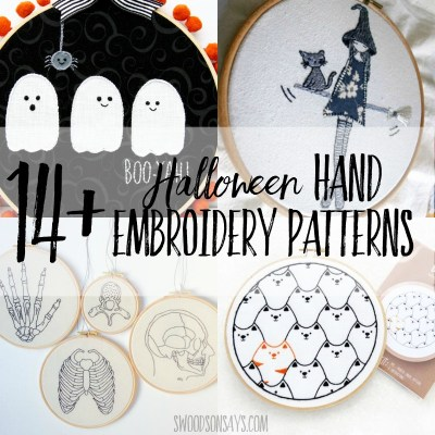 15+ Halloween hand embroidery designs