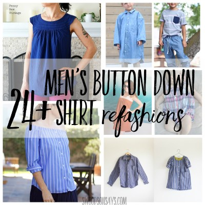 Men's button down shirt refashion ideas