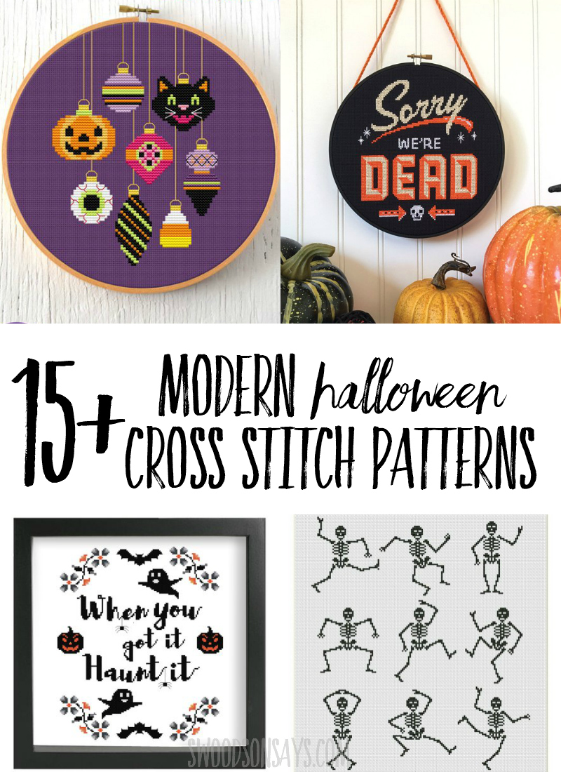 15+ modern halloween cross stitch patterns - swoodson says