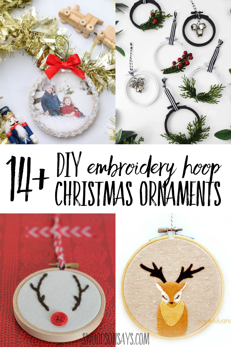 Get crafty this holiday season and make some fun embroidery hoop Christmas ornaments! Perfect for craft parties, these are easy ornaments to make and sell or gift. #embroideryhoop #christmas #christmasornament