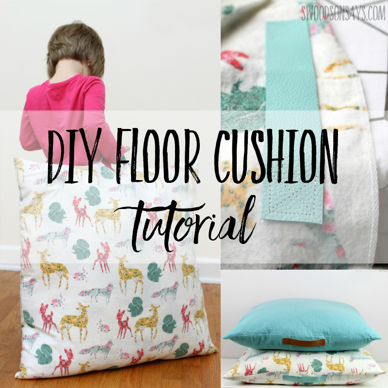 DIY floor cushion tutorial