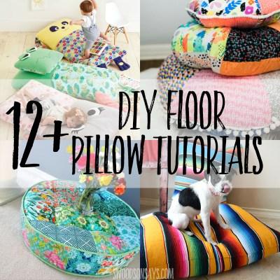 diy floor pillow tutorials