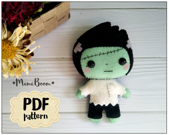 felt frankenstein sewing pattern