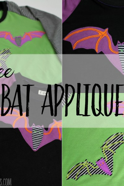 free bat applique