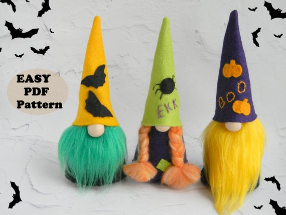 halloween gnome sewing pattern