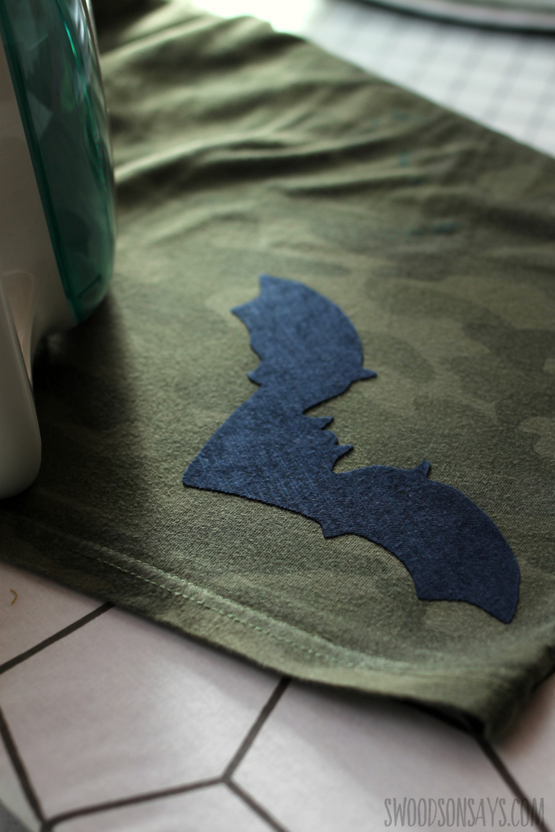 step 5 sewing on an applique