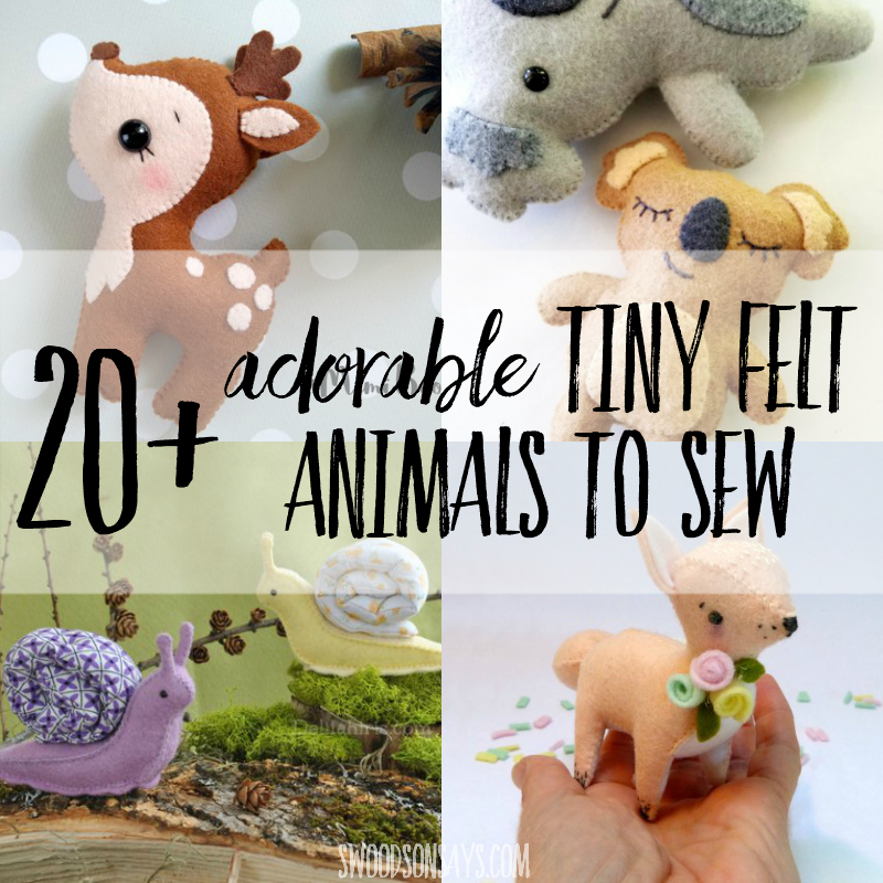 The cutest felt animals patterns to sew!