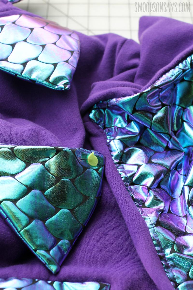 iridescent dragon fabric