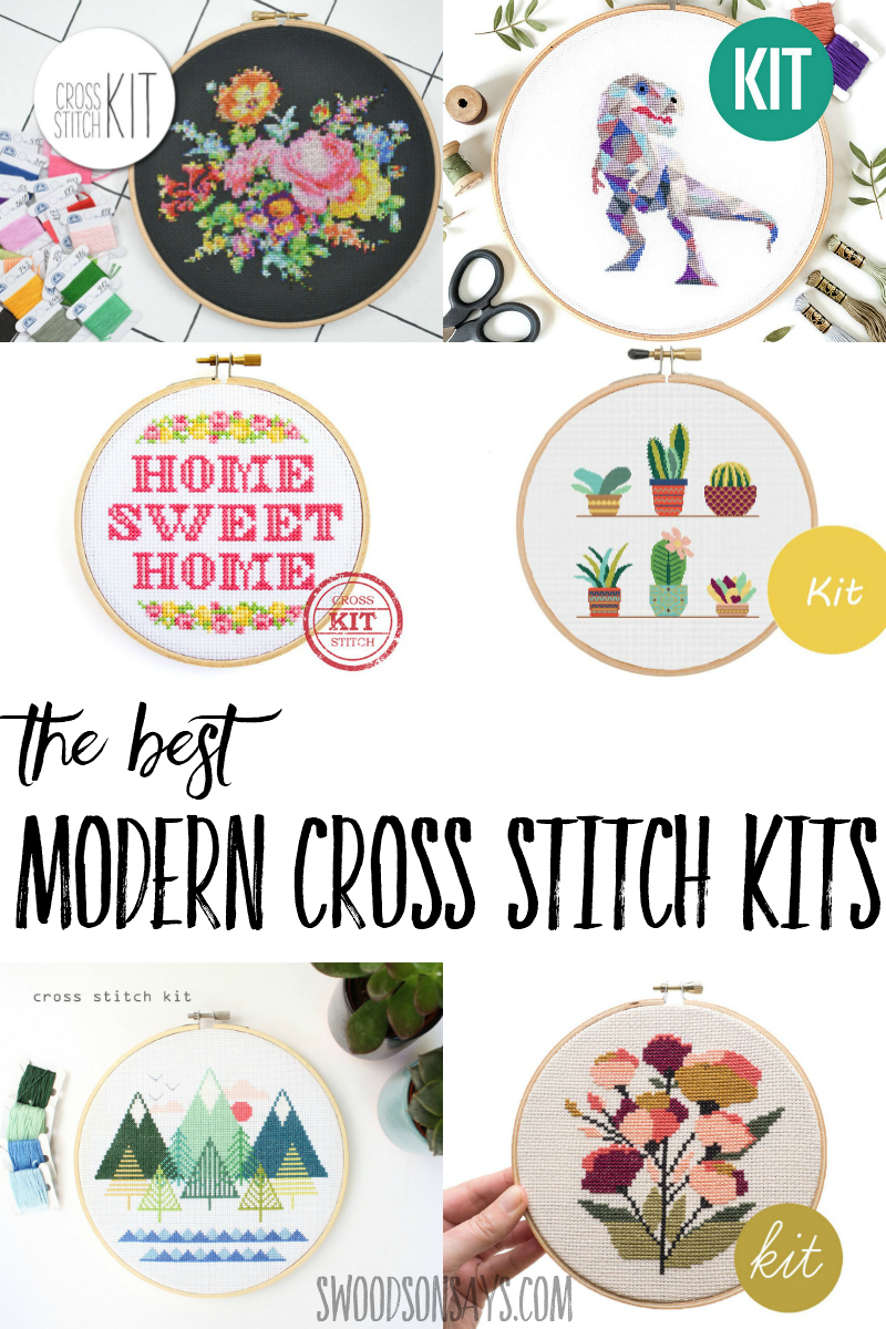 The best modern cross stitch kits to buy and stitch! If you've been meaning to try cross stitching, save yourself the trouble and buy an all in one package. #needlework #crossstitch