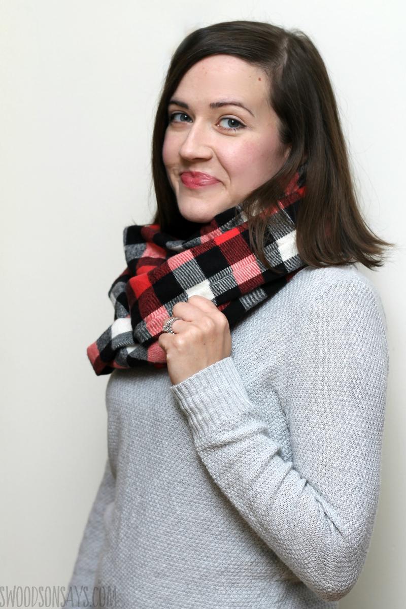 diy flannel scarf instructions