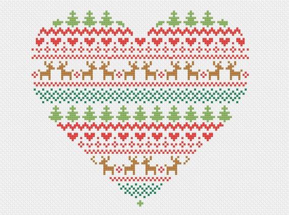 fair isle christmas cross stitch pattern