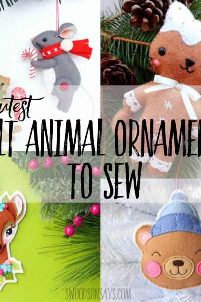 felt animal christmas ornaments homemade