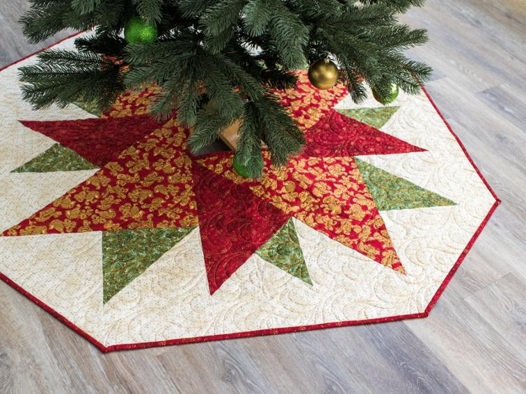 geometric christmas tree skirt pattern and kit on craftsy - Quilted Christmas Tree Skirt Pattern