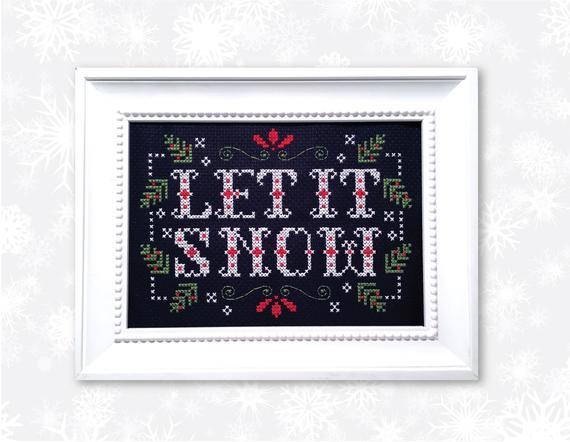 let it snow cross stitch pattern 2