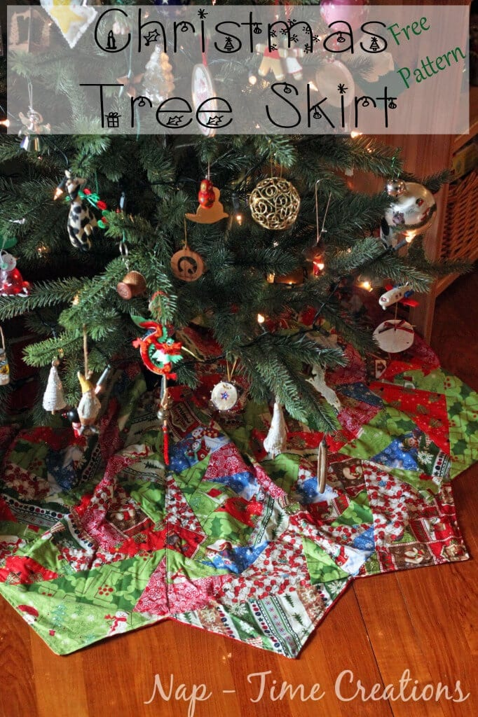 paper pieced christmas tree skirt pattern free