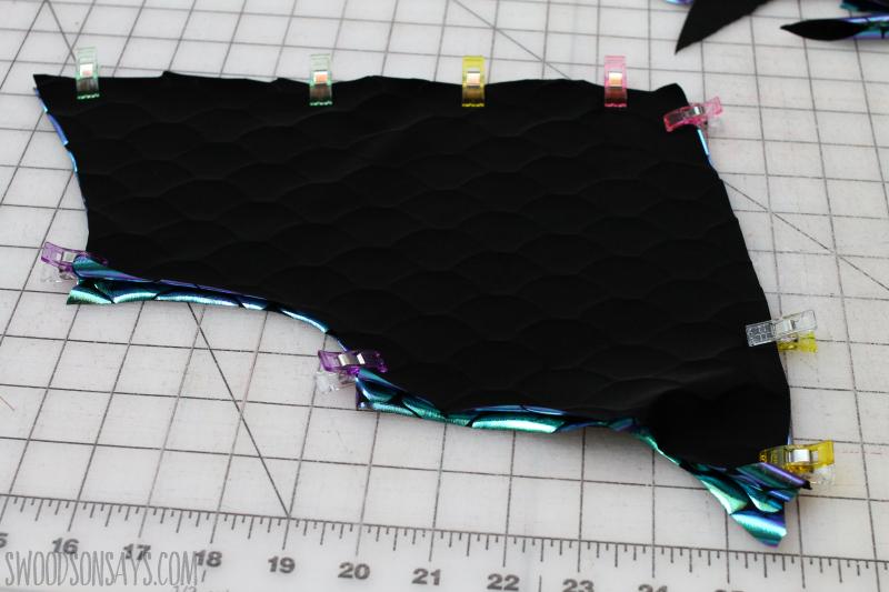 sewing dragon wings