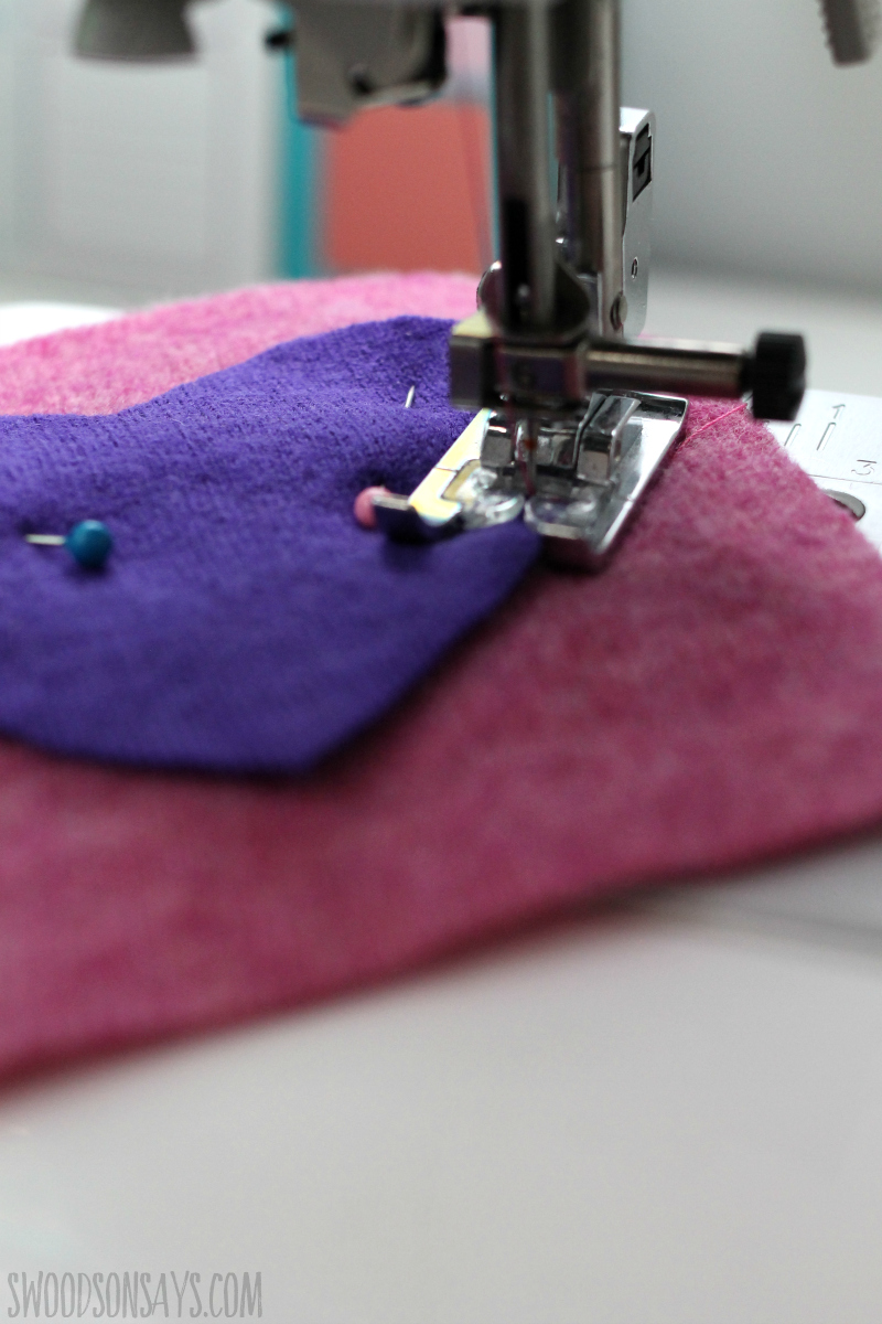 applique wool on wool