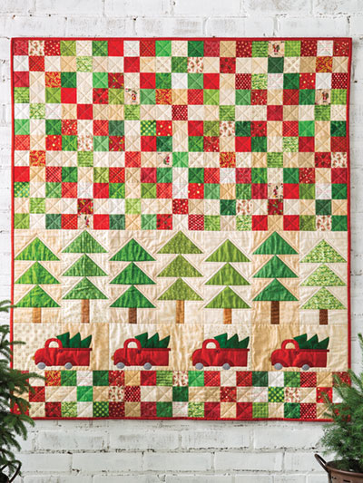 christmas truck tree quilt pattern