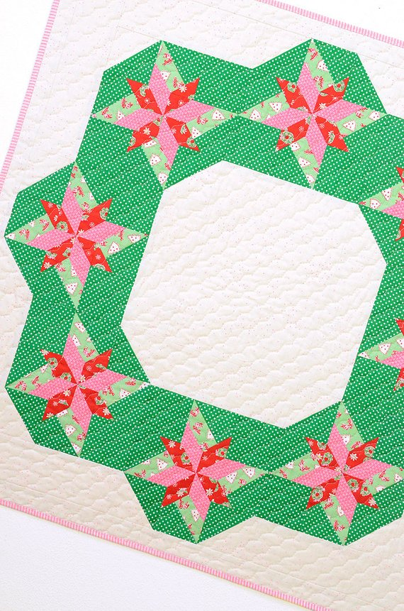 christmas wreath quilt pattern