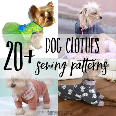 dog clothes sewing patterns