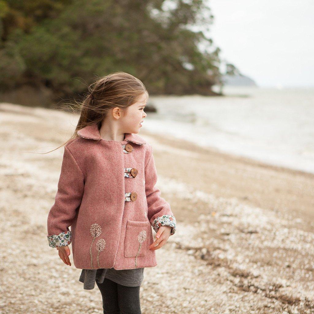 flannel kids coat sewing pattern