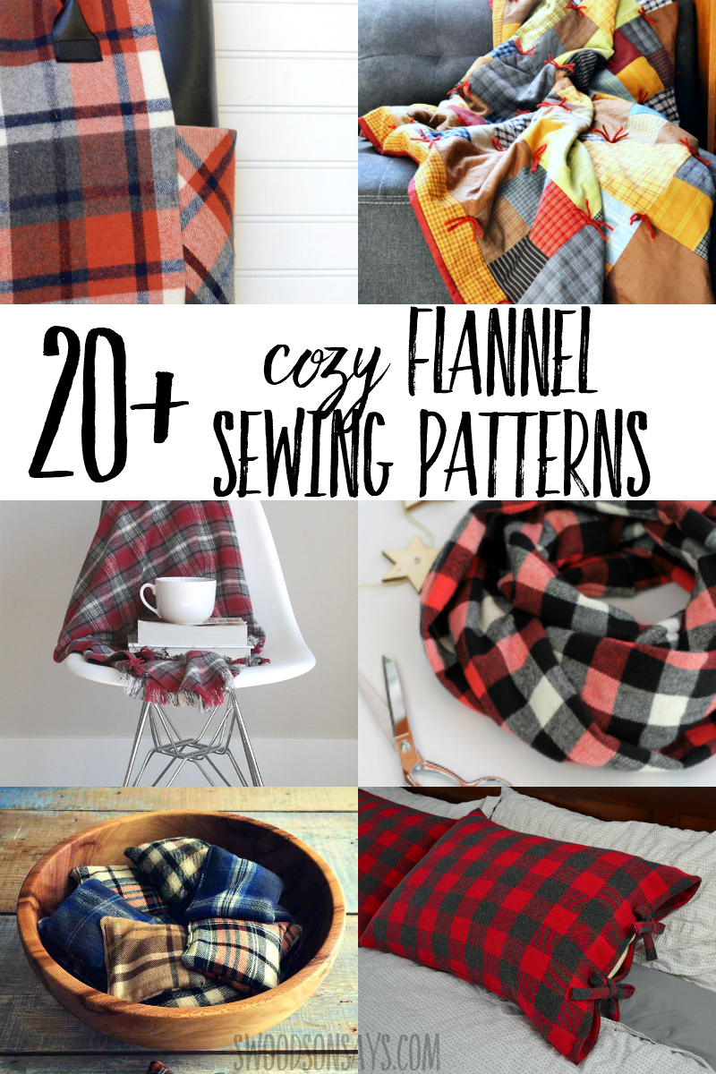 Cuddle up and get cozy with a fun flannel sewing project! Over 20 flannel sewing patterns for kids and adults, including ideas for how to use up flannel fabric scraps. #sewing #flannel #winter