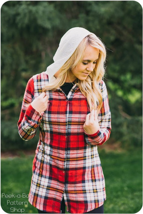 flannel womens shirt sewing pattern