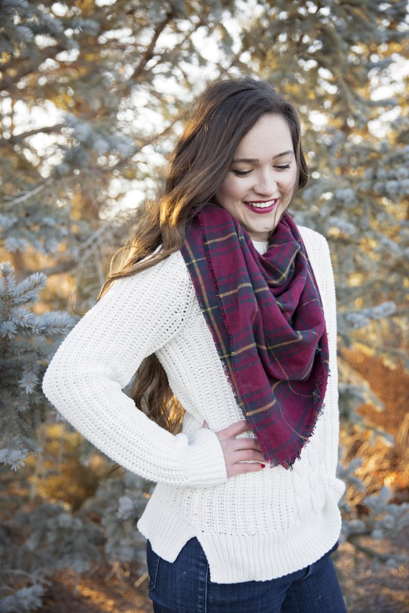 no sew blanket scarf tutorial
