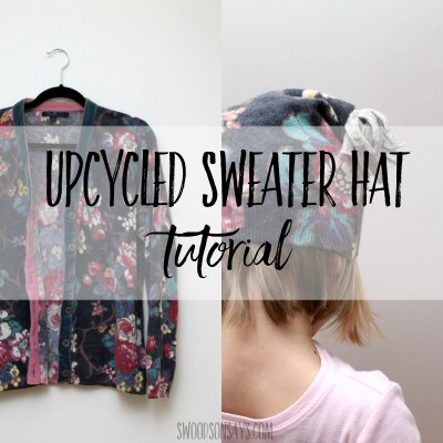 How to sew an upcycled sweater hat pattern