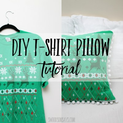 The easy way to turn a t shirt into a pillow