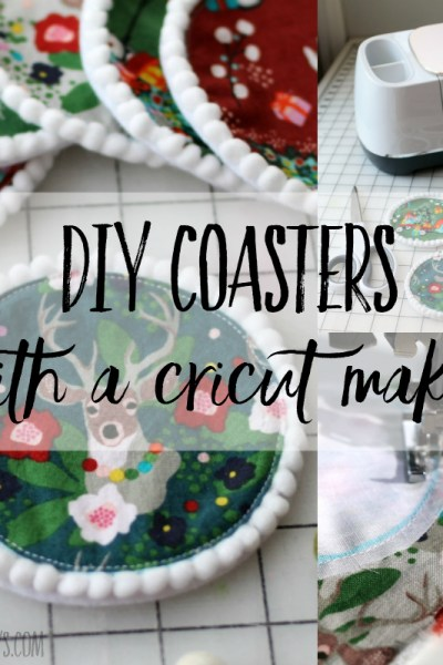 coaster project with cricut maker