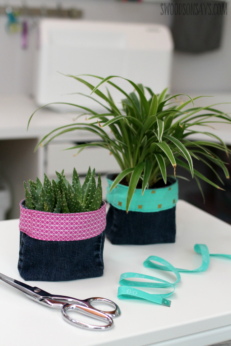 fabric plant pot tutorial