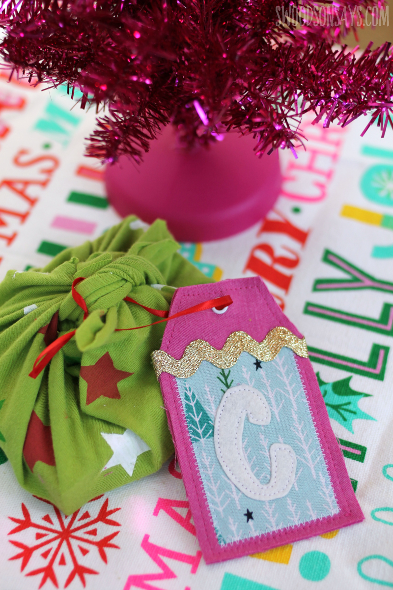 fabric scrap gift tag free pattern