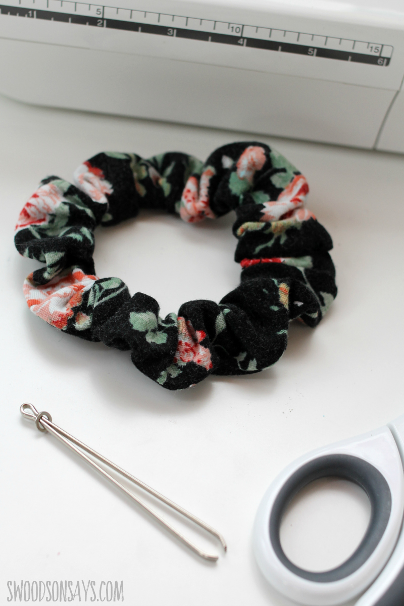 handmade scrunchie diy