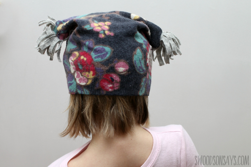how to sew a wool sweater hat for kids